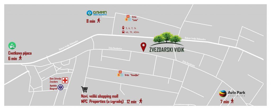 Lokacija - Zvezdarski Vidik